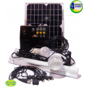 Solar Lighting and Charging Portable Kit with Control Box