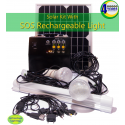 Solar Lighting and Charging Portable Kit with Control Box and SOS Rechargeable Light